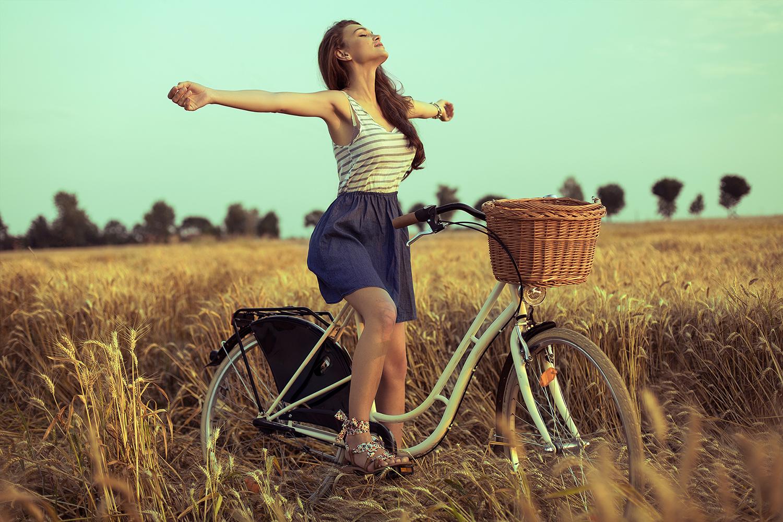 Woman Bike Healthy